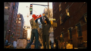 Spider-Man PS4 Spider-Punk giving high-five